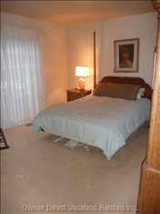 Master Bedroom - - Queen Size Bed.  both Bedrooms Have Sliding Glass Doors that Open onto the Deck