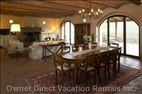 Villa Living and Dining Rooms