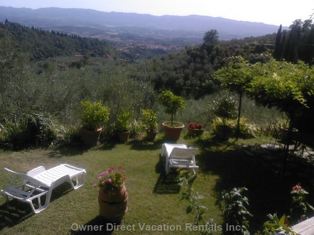 Garden with Panoramic View of Chianti Hills