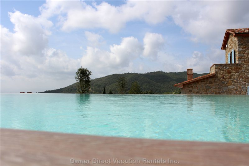 View of villa from infinity pool