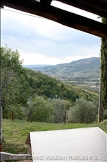 Dining Views - Terraces Have Individual Views of around the Olive Grove and Beyond.
