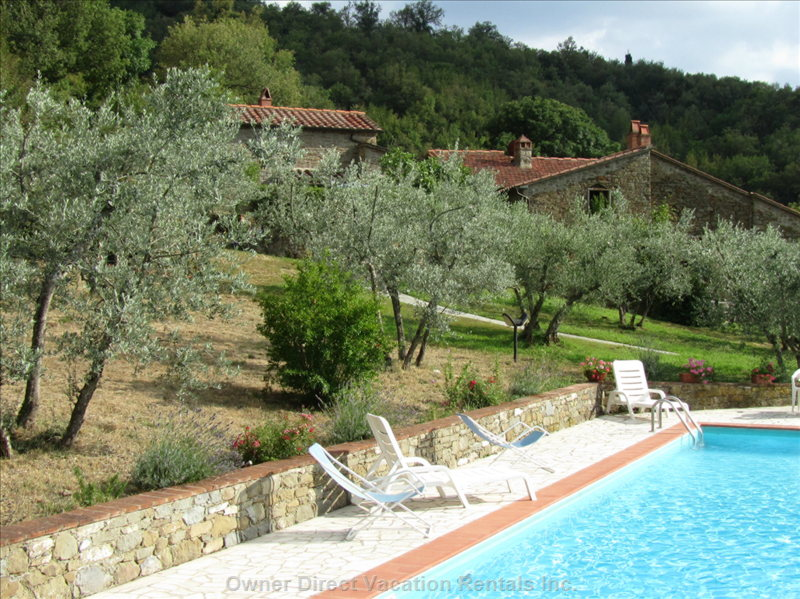 Pool and Village of IL Borgo and the Cottage