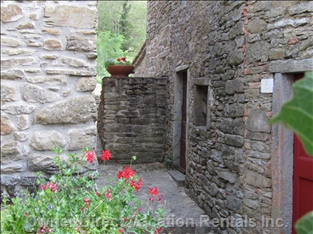 Outside Views - each Cottage is Independent and Linked by Small Pathways.