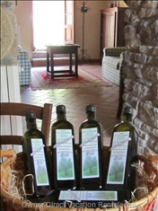 Olive Oil! - with all these Olive Trees - it'S the Perfect Welcome.