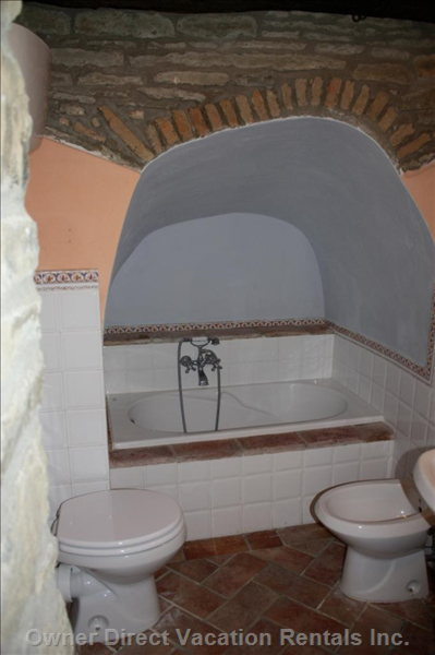 Bathroom - this is the Additional Bathroom Made Available When IL Borgo is Rented by a Group of Friends Or Family.