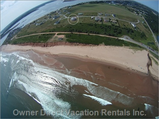 1 Km of Beach Right in Front of the House & your Rotating Suite