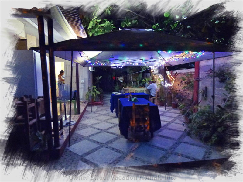 Patio  at  Night .