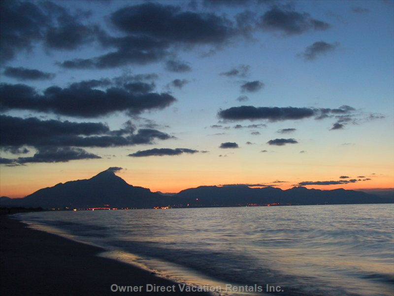 View of Palermo Settling into Dusk (from Adjoining Beach).