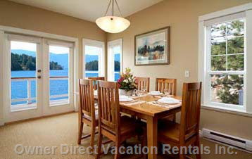 Enjoy a Glass of Wine with Dinner Overlooking Shuswap Lake