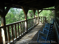 Large Covered Porch with Plenty of Rocking Chairs