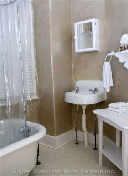 Original Fixtures Including Clawfoot Bathtub