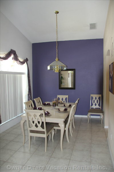 Dining Room with Seating for 8 Guests and a High Chair  Available for the little Guest Member