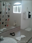 Mickey Mouse Themed Full Bathroom this is Shared between Twin Bedrooms Nos 4 & 5