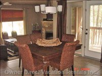 Dinning Room & Living Room with Beautiful Garden Doors to PA