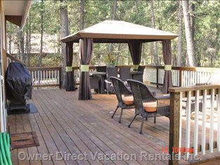 Back Deck - Bbq, Gazebo, Patio Table for 6 and Sitting Area