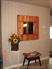 Hand Crafted Mirror in Dining Area