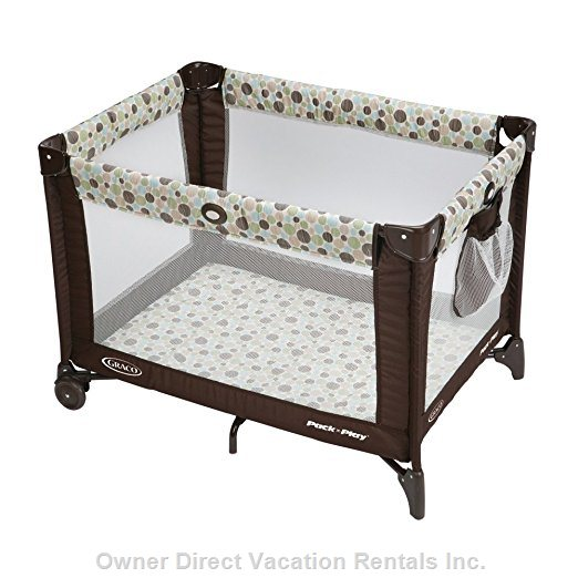 Put the Babies to Bed in our 2 Pack N Play Style Cribs with Sheets for no Additional Charge.