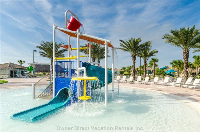 Let the Kids Splash While you Relax. Kids Love the Splash Zone!