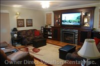 Family Room with 60 Inch Panasonic 3d Tv,   on Shaw Cable.