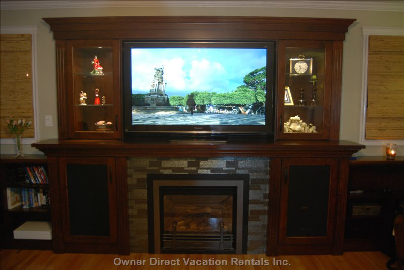 "60"" Panasonic #D Tv in Family Room."