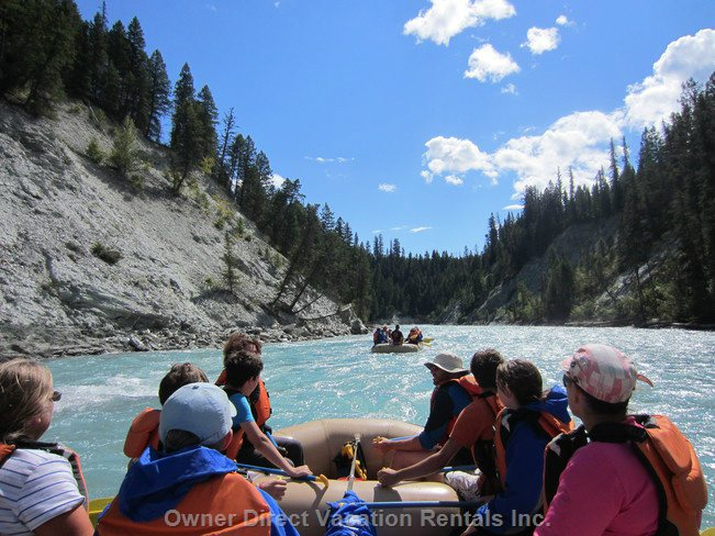 Peaceful River Rafting Or Whitewater Rafting for all Ages Right in Radium. See the Valley like YOU'VE Never Seen it before!