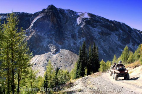 Atv Tours with Toby Creek Adventures for the Adventurous who like to Really Explore the Mountain and Cover some Ground.