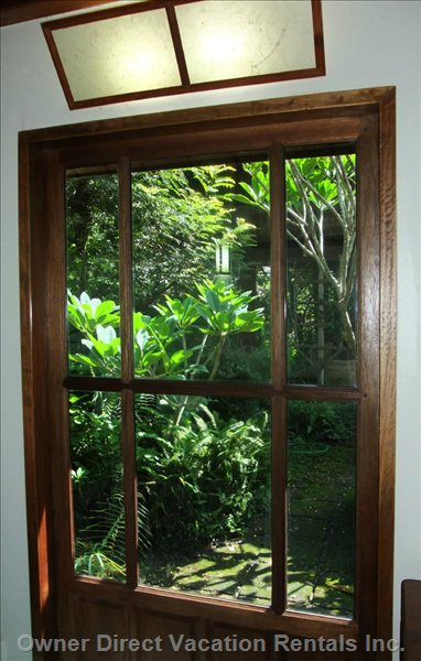View to Garden through one of several Windows (Bungalow)