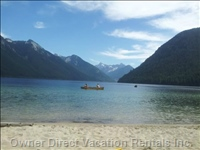 Chilliwack Lake Beach Only a 25 Minute Drive from our Guest House
