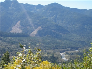 Chilliwack River Valley from Back Road on the Way to Hiking Trail