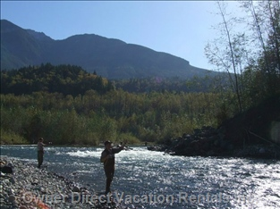 Salmon Fishing on the Chilliwack River by Guest House Accommodations in Chilliwack