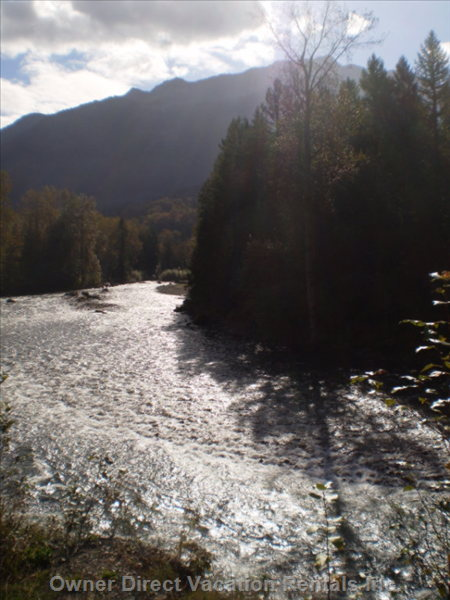 Chilliwack River around the Corner from Cabin