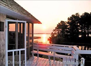 Sunrise over Assateague Island, Oyster Bay from Deck