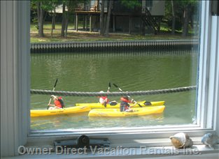 Spinnaker's Assateague  Area Perfect for Kayaking  Chincoteague Channel Back Bays