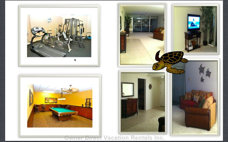 Family Room, Exercise and Billiards/Games Room