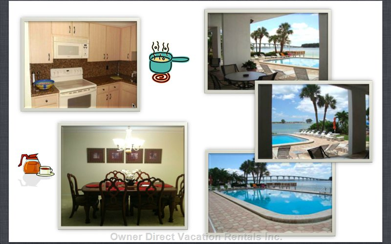 Kitchen/Dining Room and Pool/Beach Area