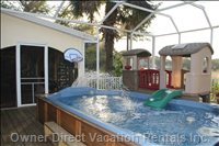 Swim Spa - Kids Water Fountain & Kids Club House - Bbq Also Located on Screened Deck