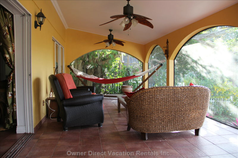 Screen Room - Sitting Area - Hammock View