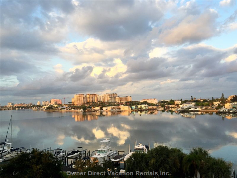 Views of the City of Clearwater from your  Pvt. Balcony.