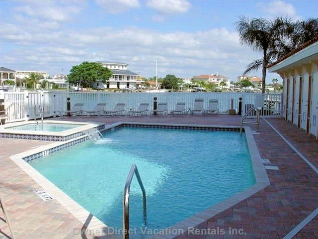 Secured Pool ,Great Views of Intra Coastal Water Way and Gulf.