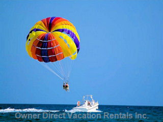 Parasailing Available on the Beach.