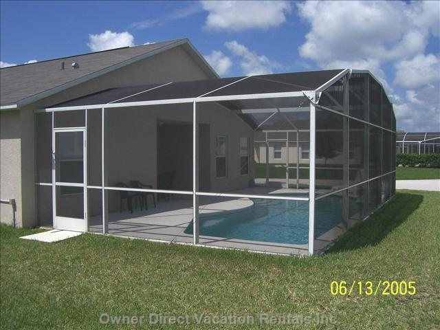 30' Long Heated Pool with Enclosure