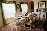 Formal Dining Room Sits 8