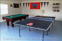 Garage with Pool and Ping Pong Table