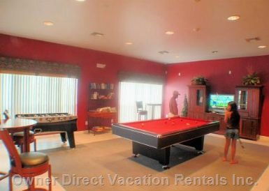 Resort Clubhouse Games Room Complementary for all Villa Guests