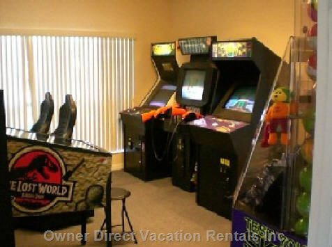 Arcade Room Available to Villa Guests for a Small Fee