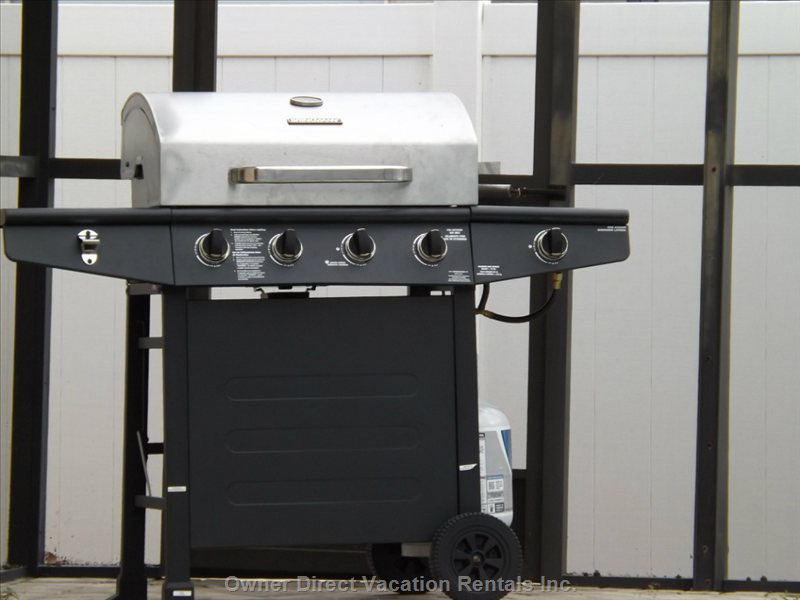 Free 4 Burner Gas Grill (you Just Refill Gas)