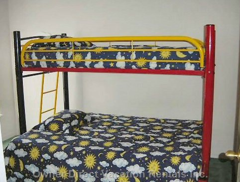 4th Bedroom with Full Bed on Bottom Bunk & Twin Bed on Top Bunk.