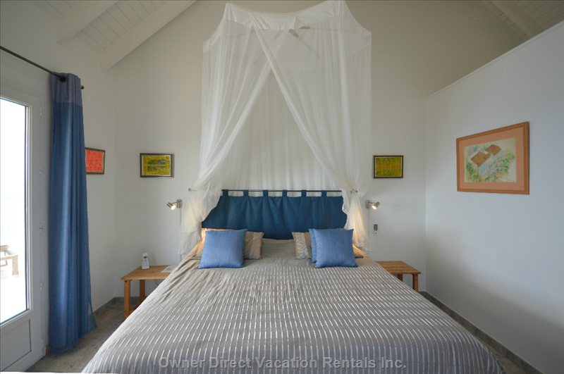 Bedroom St Eustache Air Conditioning. You Can See the Island from the Bed. + Tv us Dishn Hbo