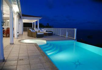 Private Villa Overlooks the Caribbean Sea Sunsets W/Pool & Spa