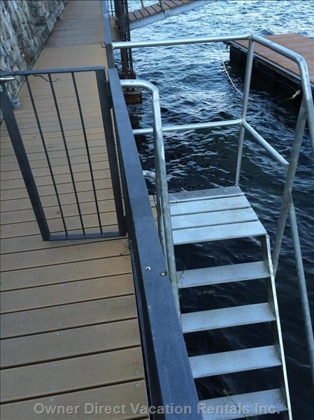 Access the Private Locked Stairs across from the Lakefront Garden to Swim before Dinner.  Guest is Provided with a Key.